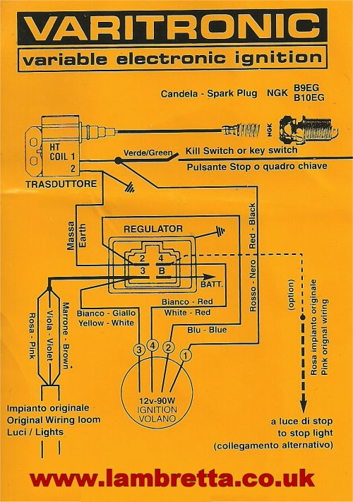 Lambretta Electronic Ignition Wiring Diagram Electronic Ignition