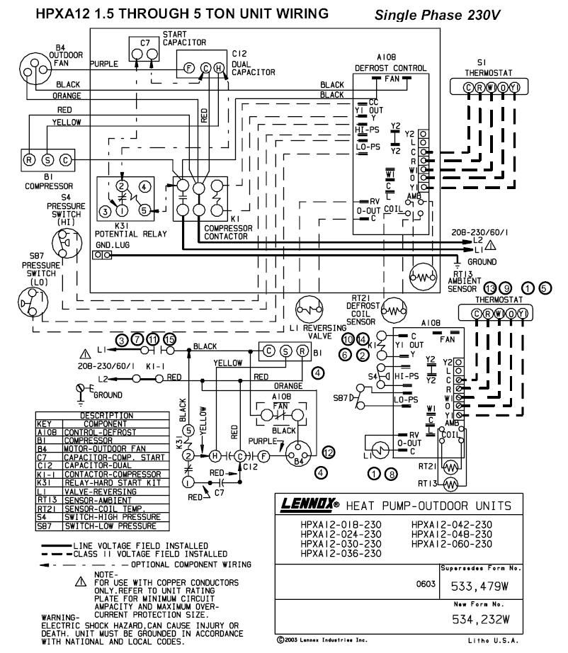 lennox heat pump xp14 wiring diagram