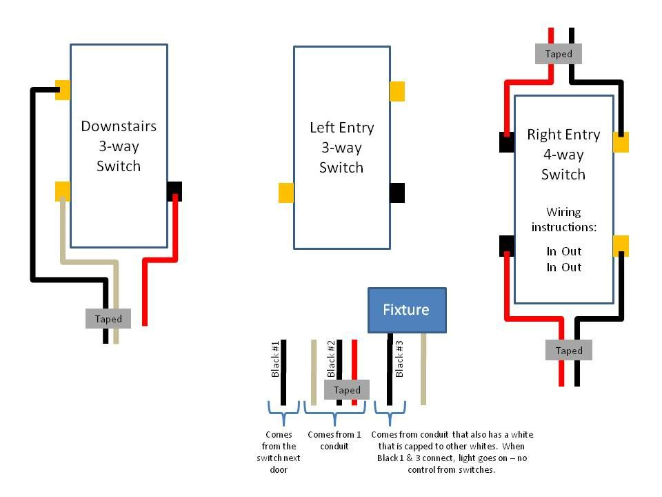 Leveiton Decora 4way Switch Wiring Diagram