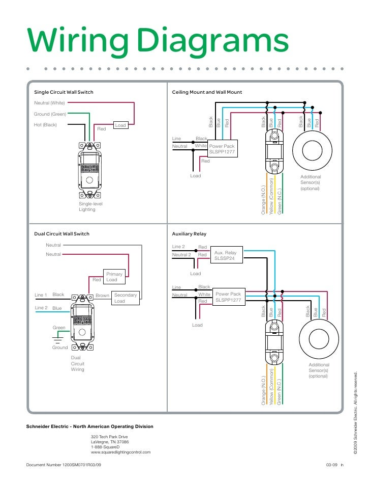 Leviton Ceiling Occupancy Sensor Wiring Diagram on
