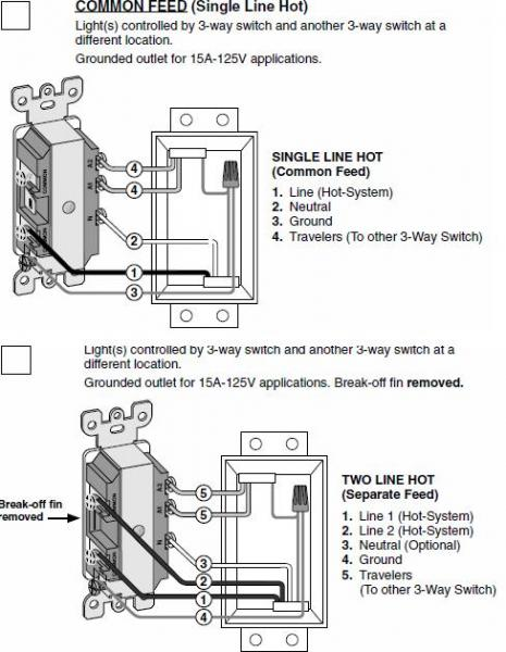 Leviton T5225 Wiring Diagram