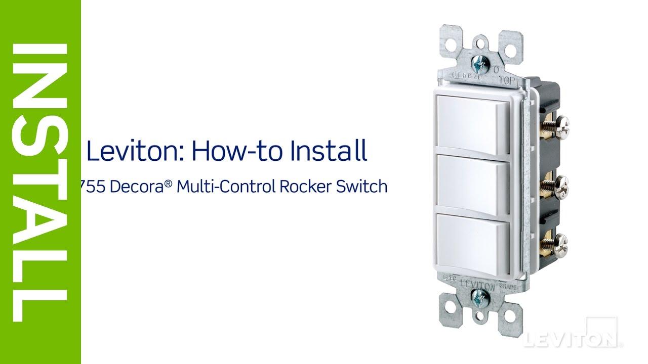 Leviton Triple Rocker Switch Wiring Diagram