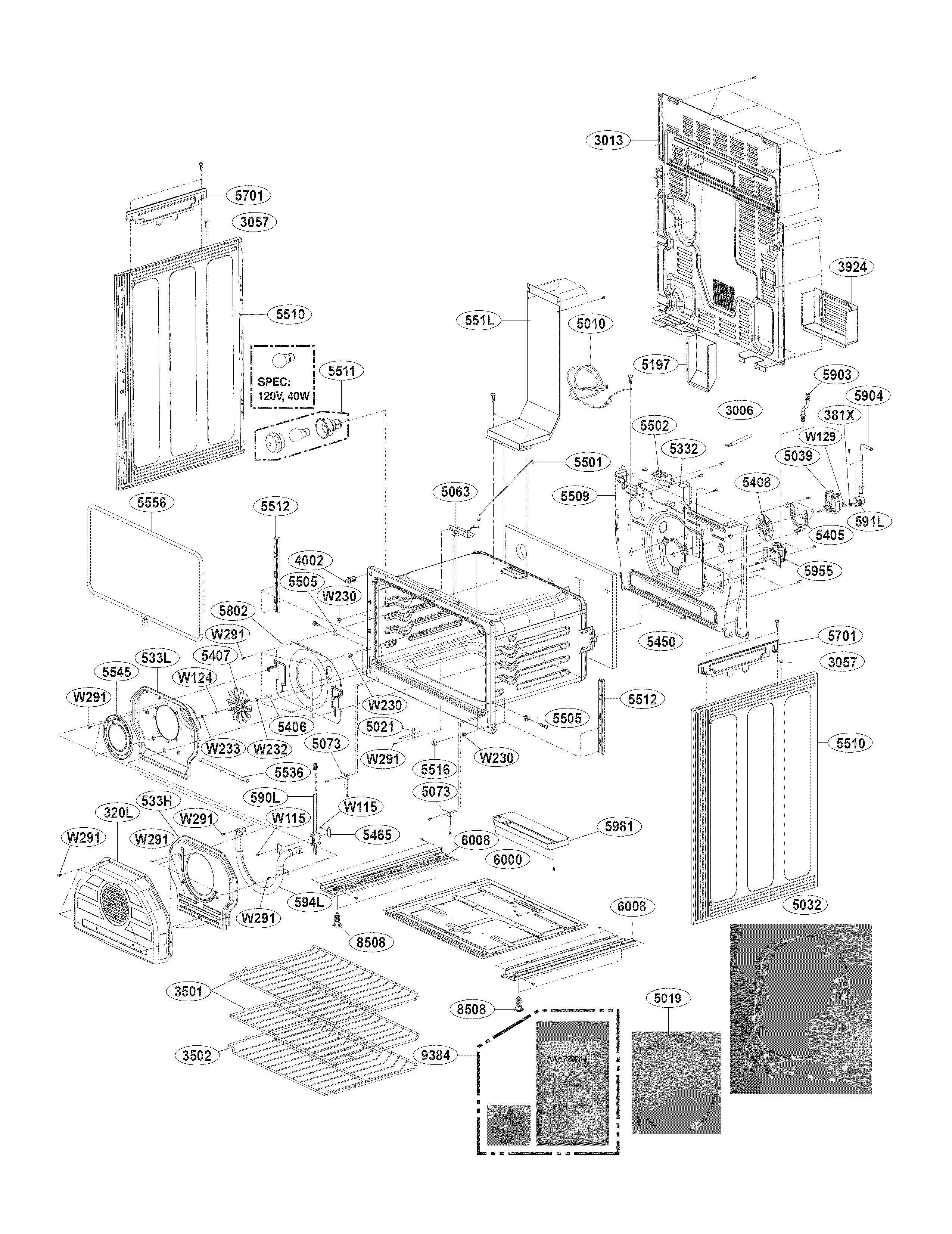Lg Range Lre30755st Wiring Diagram