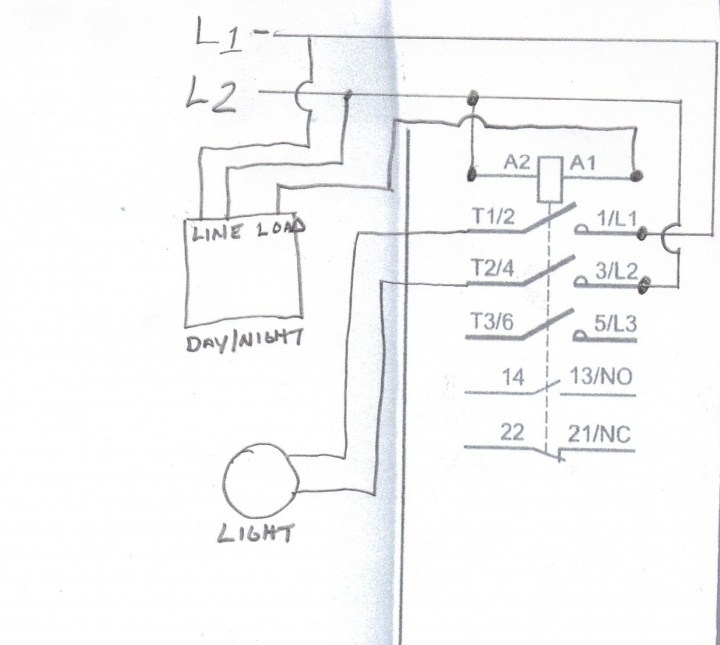 diagram lights to photocell contactor wiring diagram full