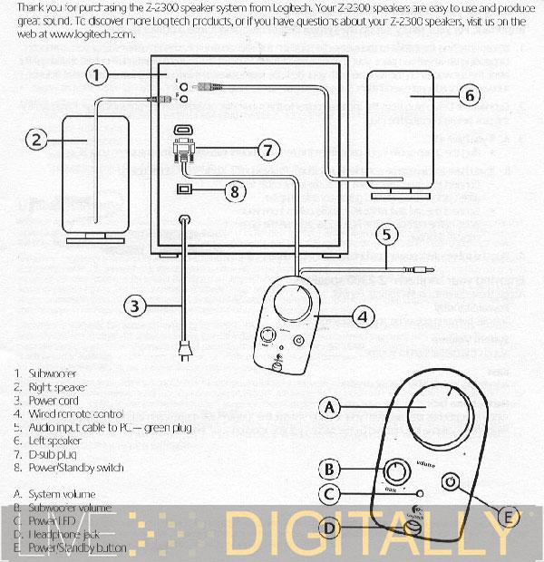 logitech z 640 wiring diagram
