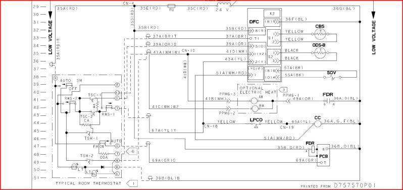 Low Voltage Wiring Diagram Trane Model Number Twe040e13fb2