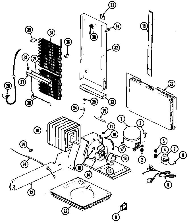 Magic Chef Refrigerator Wiring Diagram on