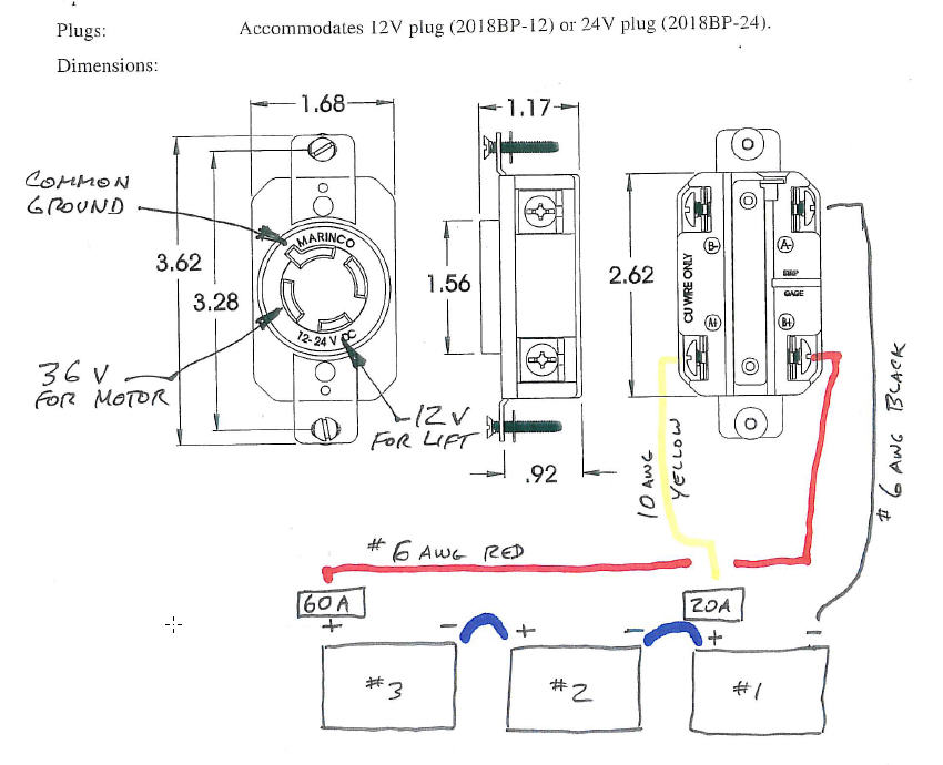 marinco 24v receptacle wiring diagram