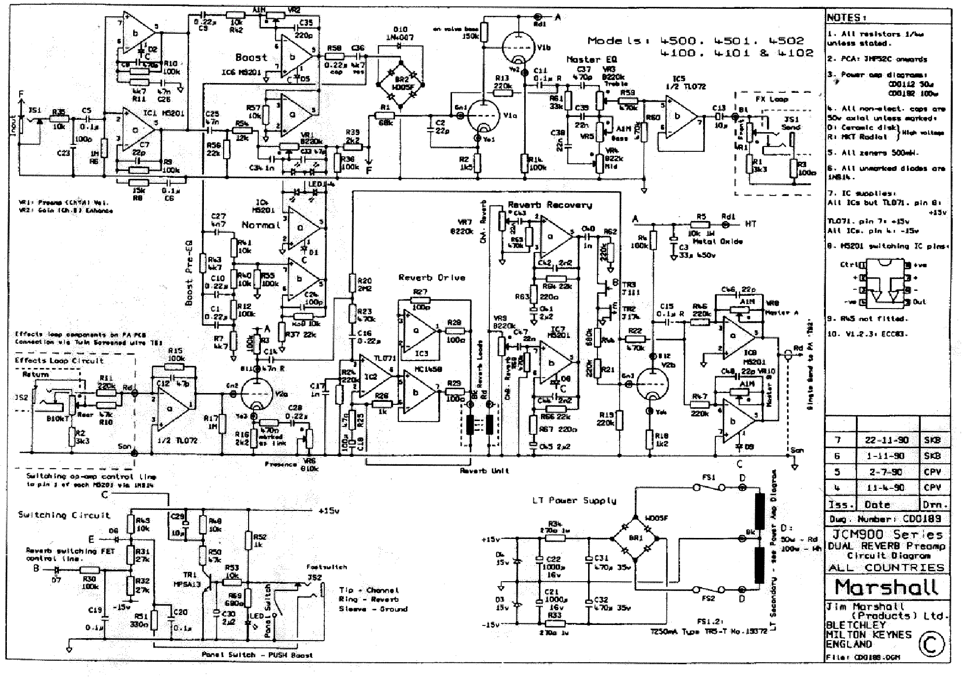 Marshall 1960a Wiring Diagram