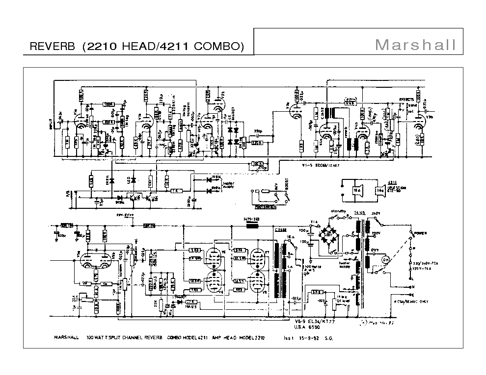 Marshall Jcm 800 2205 Wiring Diagram Schematic