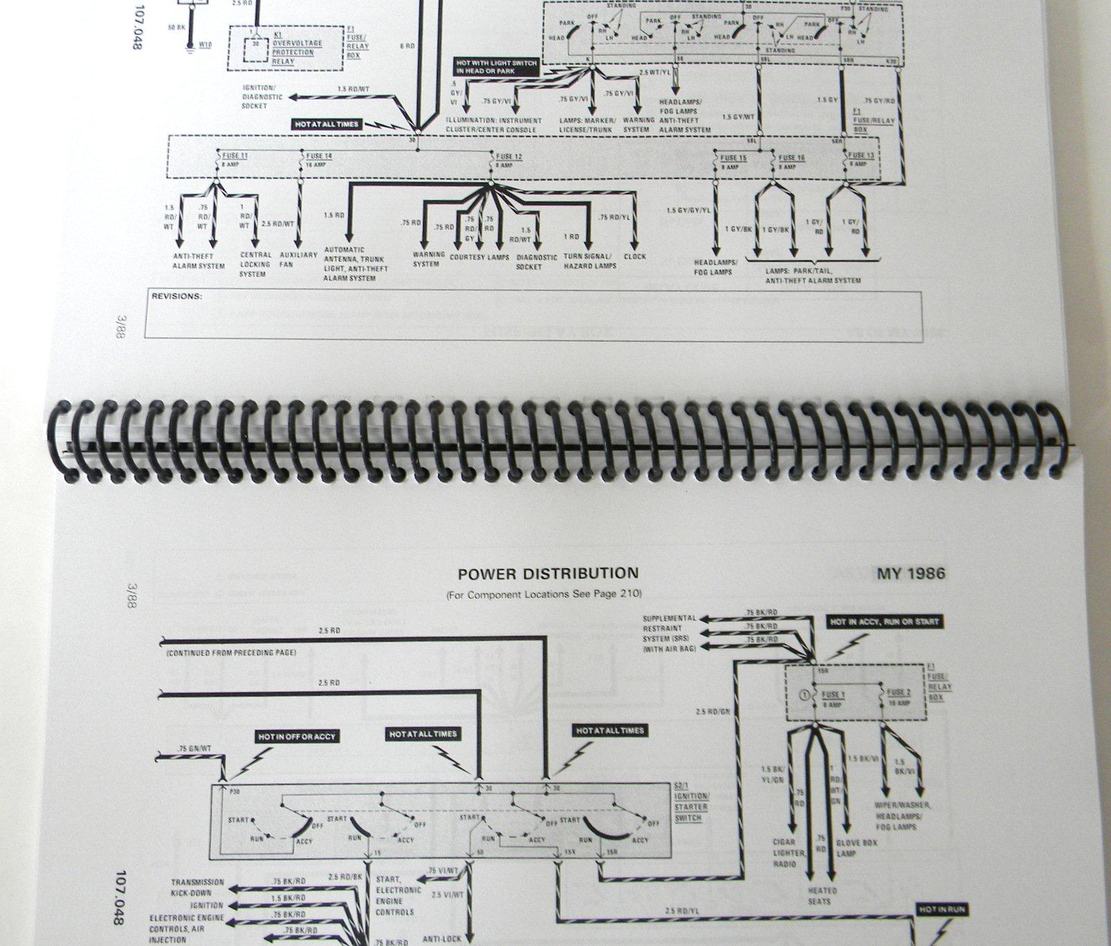 Mercedes R107 Sl Mirror Switch Wiring Diagram 86 87 88 89