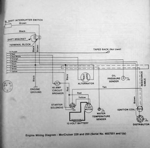 Mercruiser 228 Ignition Coil Wiring Diagram on