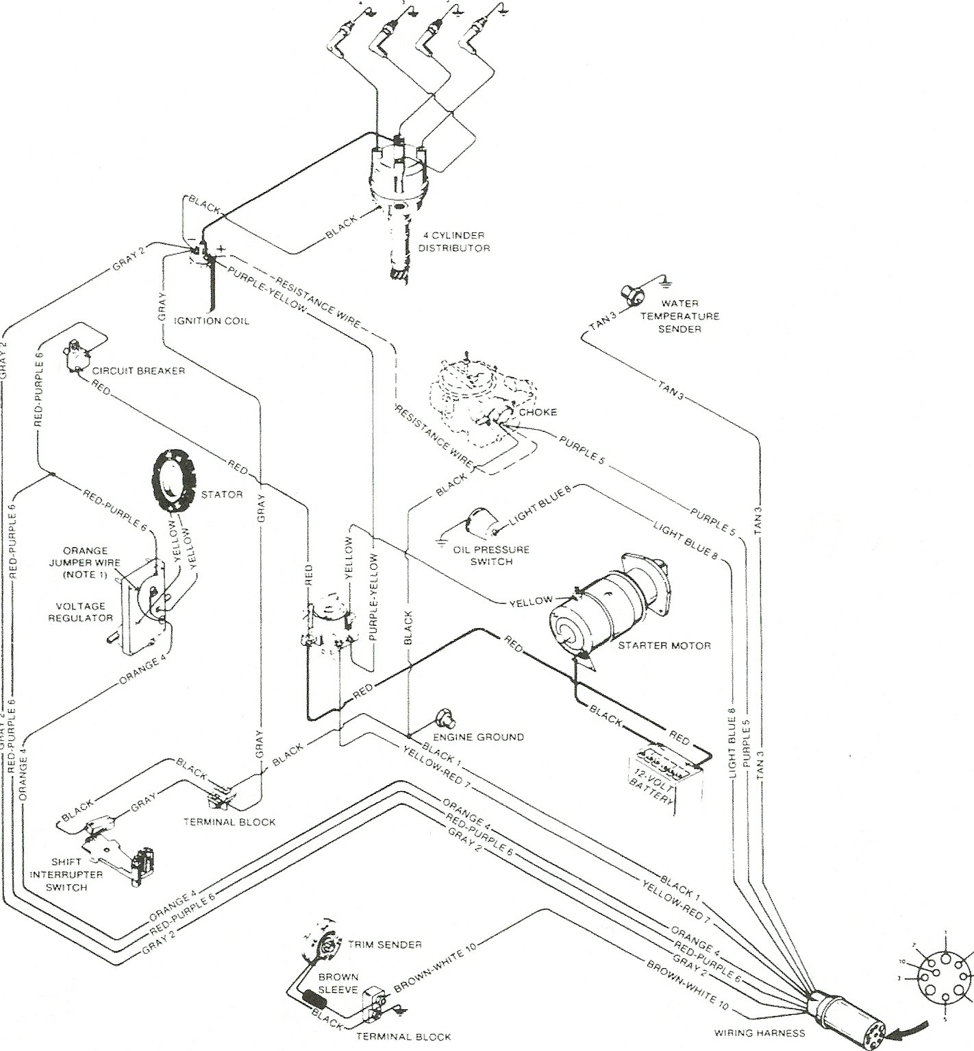 Mercruiser 3.0 Ignition Wiring Diagram on