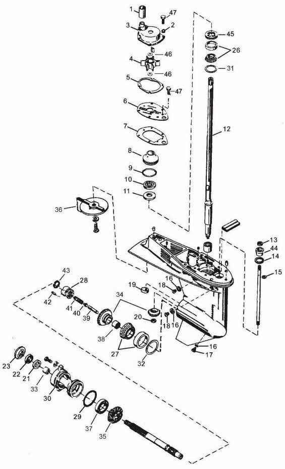 Mercury 2cyl  20 Hp 2 Stroke Wiring Diagram