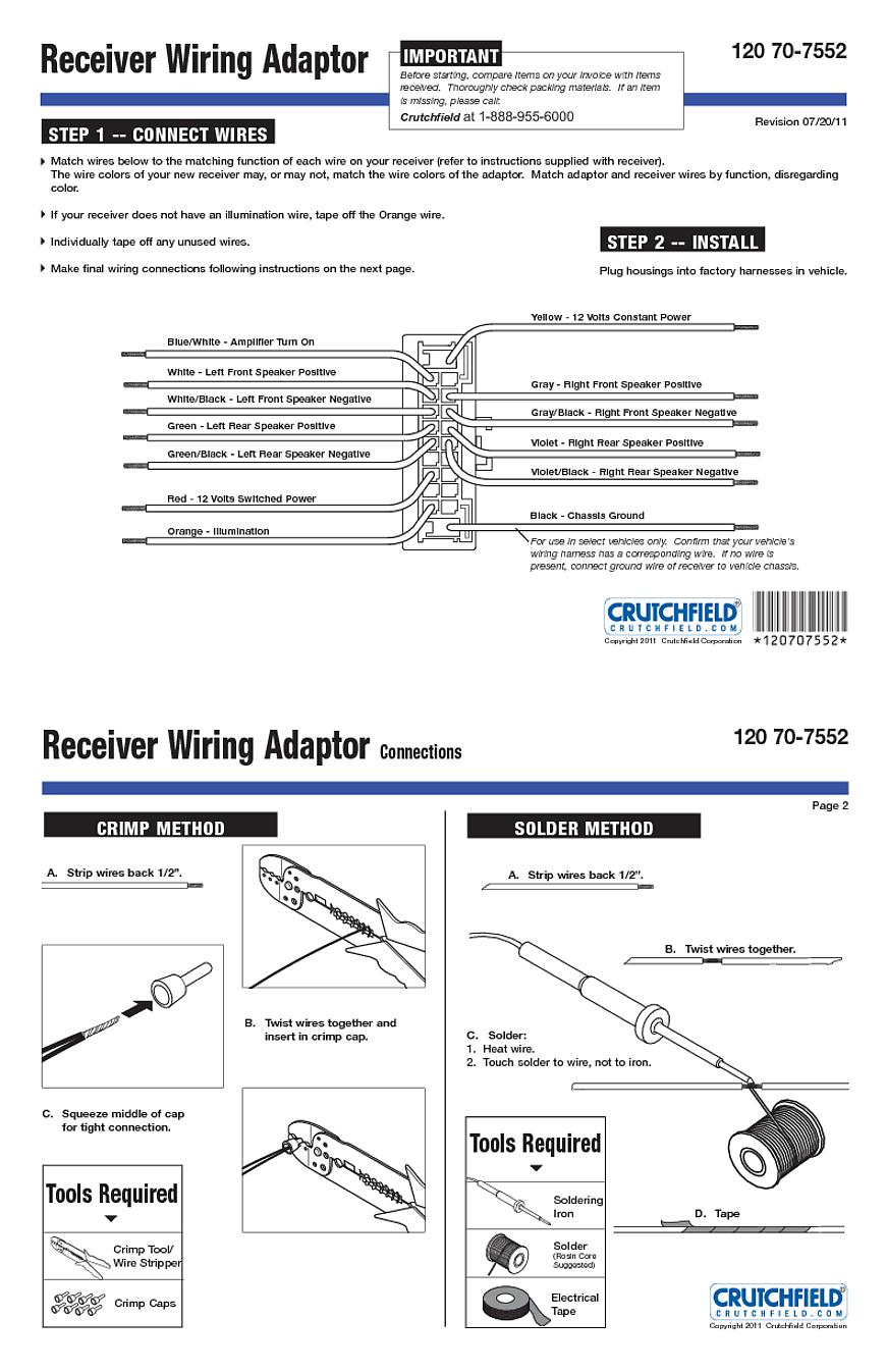 Metra 70 7552 Radio Wiring Harness basic car audio diagram schematron.org