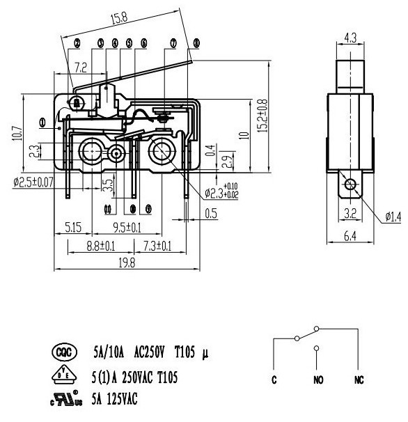 Micro Switch Wiring Diagram Fe290