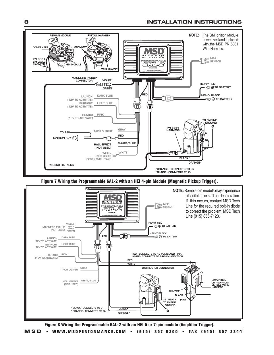 Msd 6al 6420 Wiring Diagram For Optispark Distributor