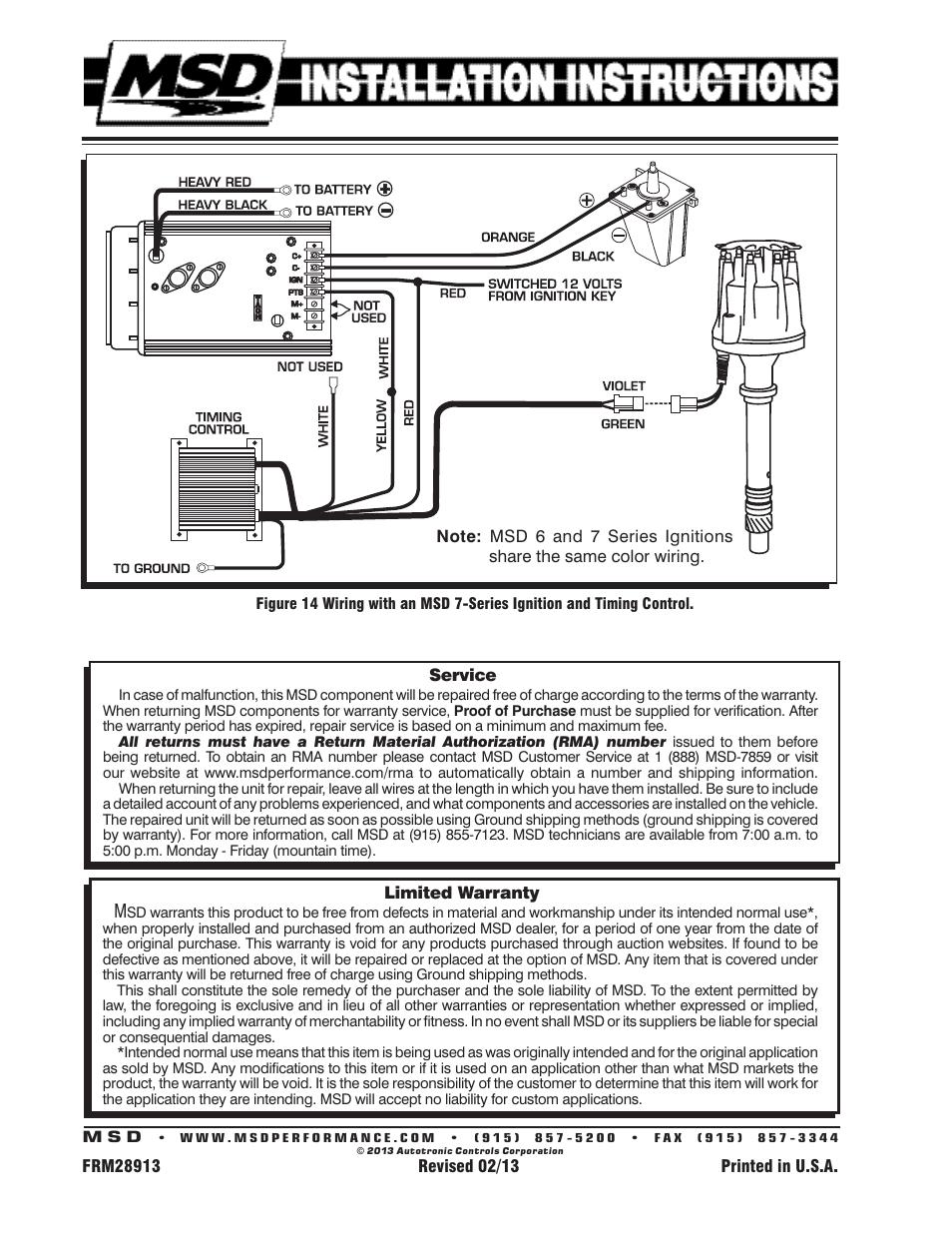 Msd Pro Billet Distributor Wiring Diagram from schematron.org