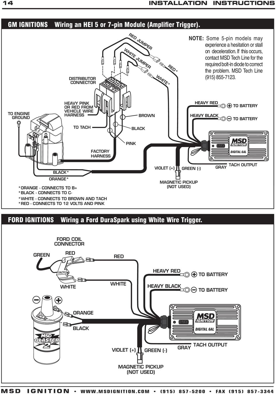 Distributor Wiring Diagram In Addition Msd Ignition Wiring Diagram