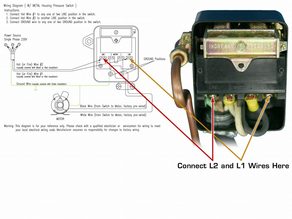 Oilless Air Compressor Single Phase Wiring Diagram on