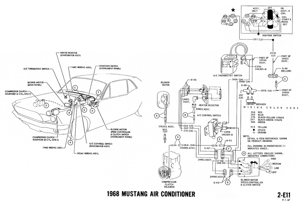 Old Air Products Mustang 1967 Installation Wiring Diagram Trinary Old Air Wiring Diagram on