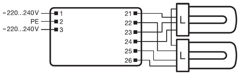 Osram Qtp4x32t8/unv Isn-sc Wiring Diagram For 3 Bulbs on