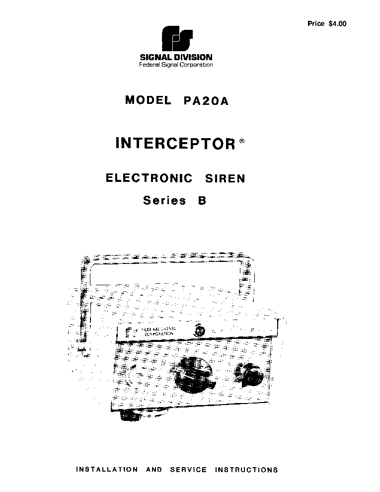 Pa300 Electronic Siren Wiring Diagram on