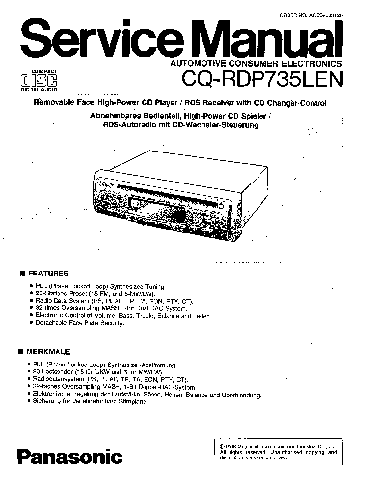 Panasonic Cq Df903u Wiring Diagram