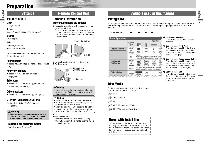 Panasonic Cq Vd7001u Wiring Diagram