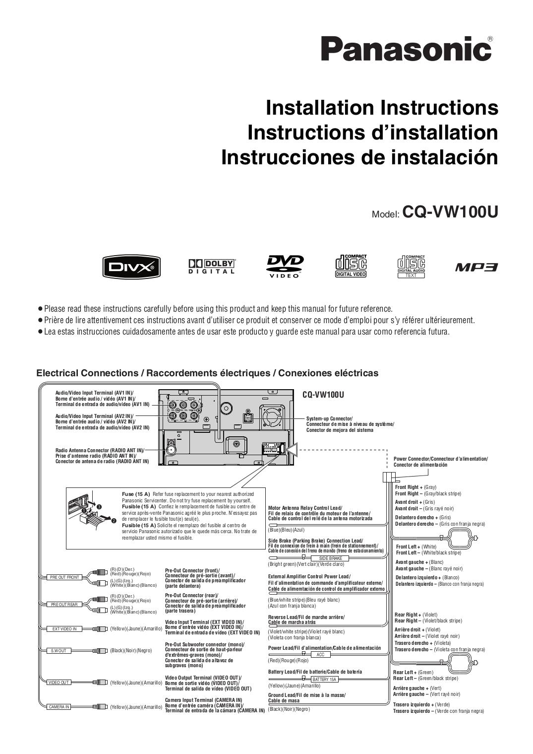 Panasonic Cq Vd6503U Wiring Diagram from schematron.org