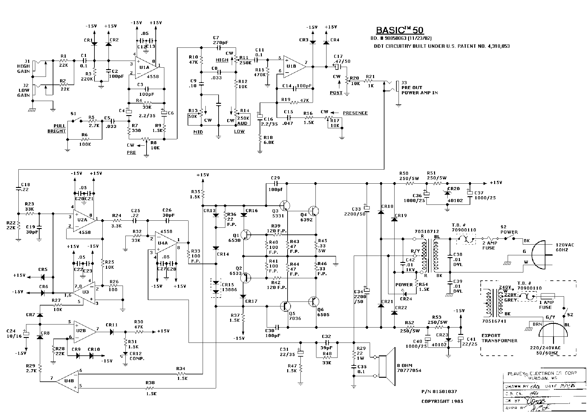 Peavey Xr 600c Wiring Diagram