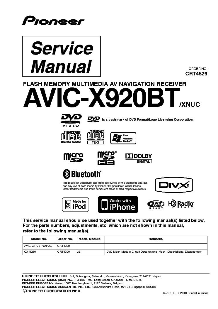 Pioneer Avic N2 Cpn1955 Wiring Diagram