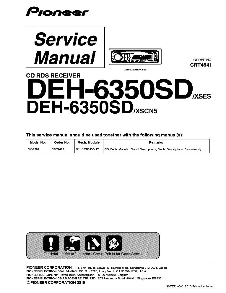 Pioneer Deh P5100ub Wiring Diagram