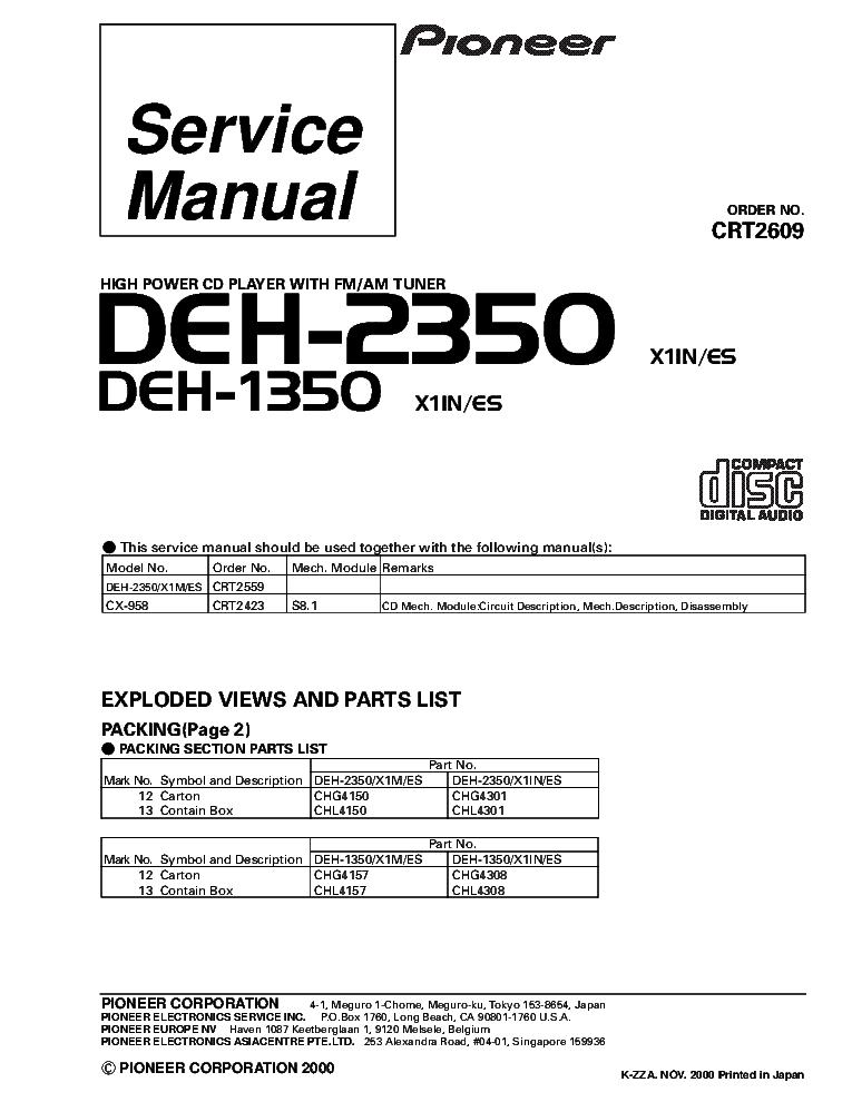 Pioneer Deh P5900ib Wiring Diagram