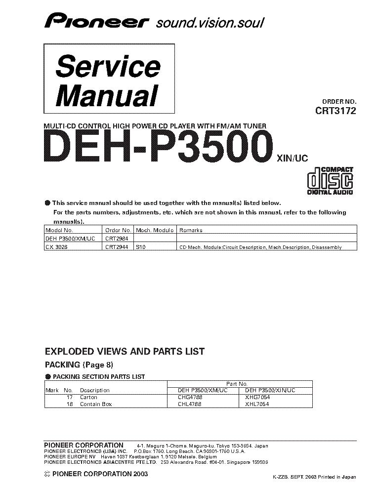 pioneer deh x6500bt wiring diagram Pioneer Deh X6500bt Problems