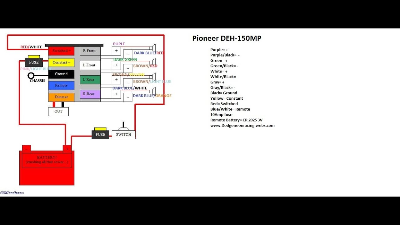 Deh X6800Bt Wiring Diagram from schematron.org