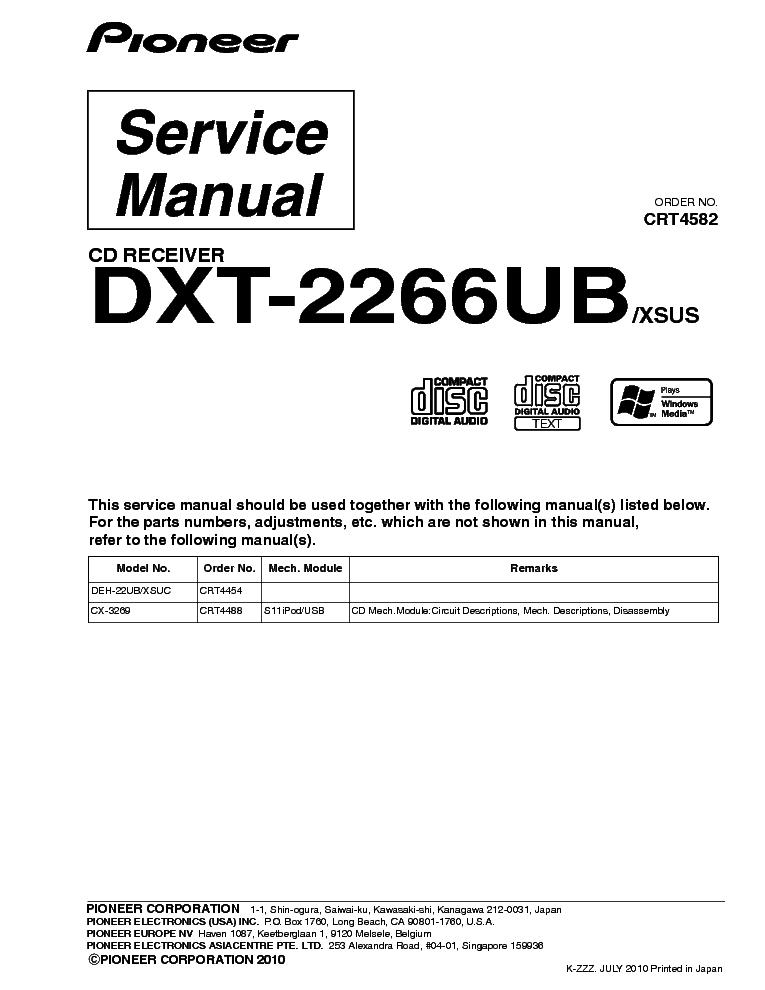 Pioneer Dxt 2369Ub Wiring Diagram from schematron.org