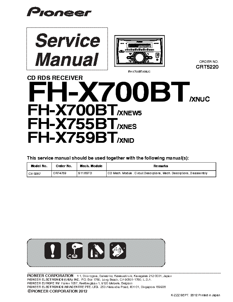 Pioneer Fh X700bt Wiring Instructions