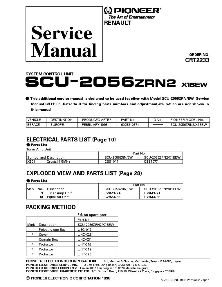 Pioneer Sph Da01 Wiring Diagram