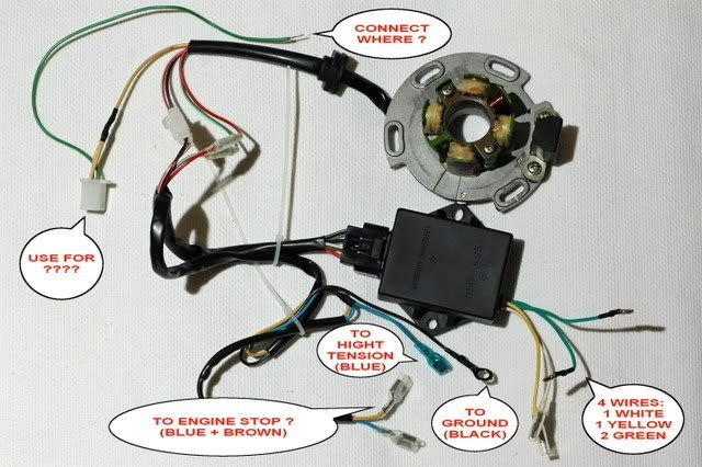 pit bike wiring loom diagram