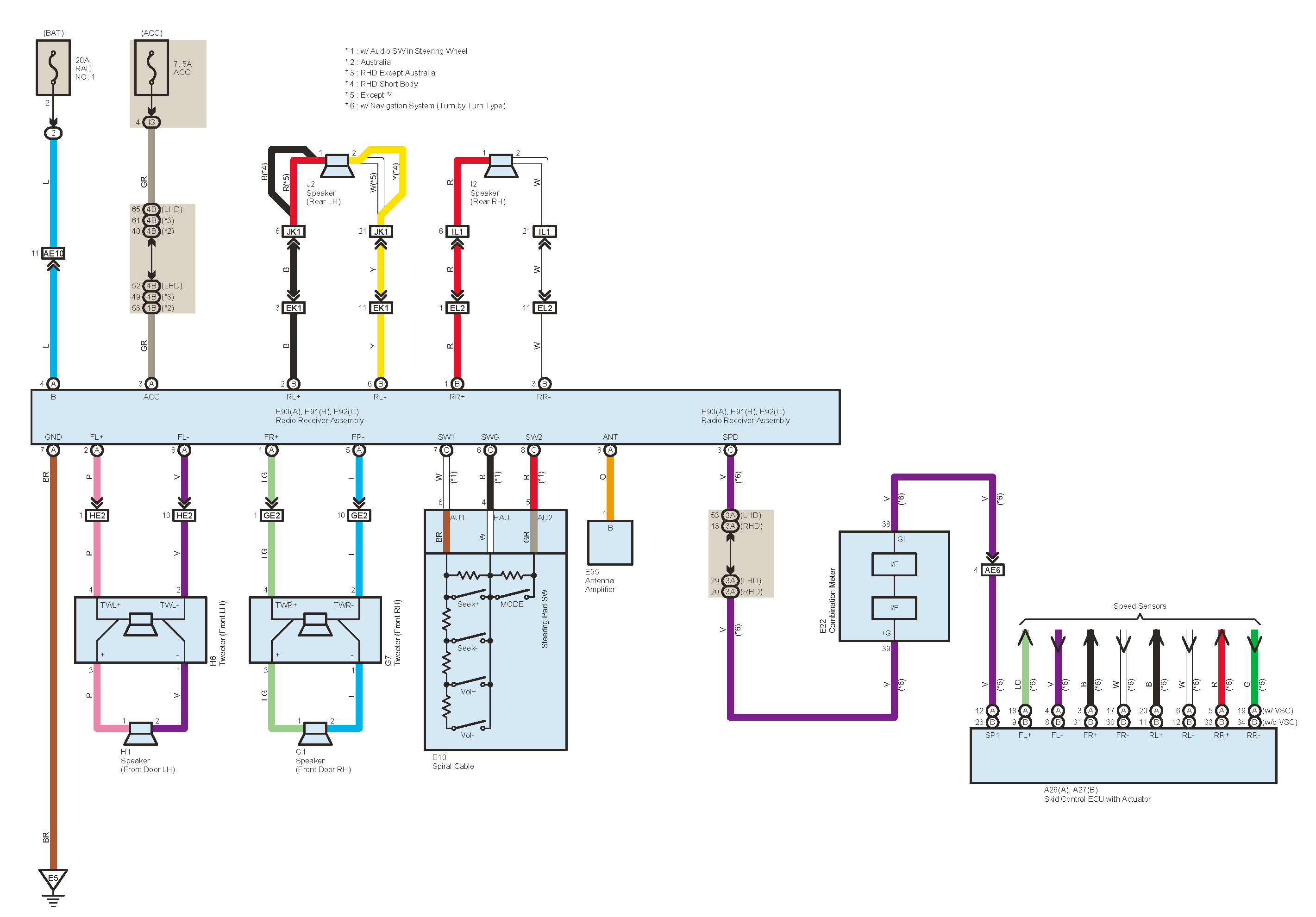 Radio Wiring Diagram 2008 Sx4 Steering Controls