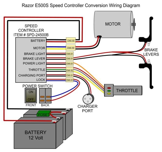 easy go battery wiring diagram razor e300 scooter battery wiring diagram