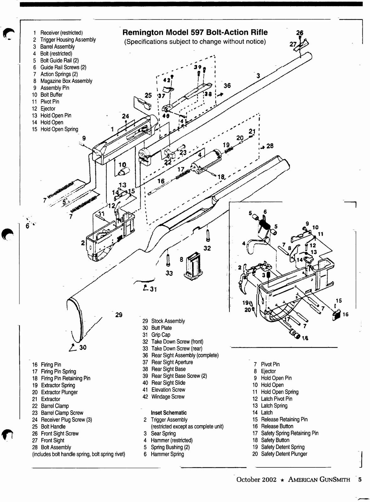 Remington 597 Trigger Assembly Diagram