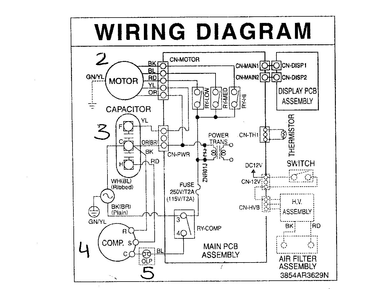 Run Capacitor Wiring Diagram Further Furnace Thermostat Wiring Diagram