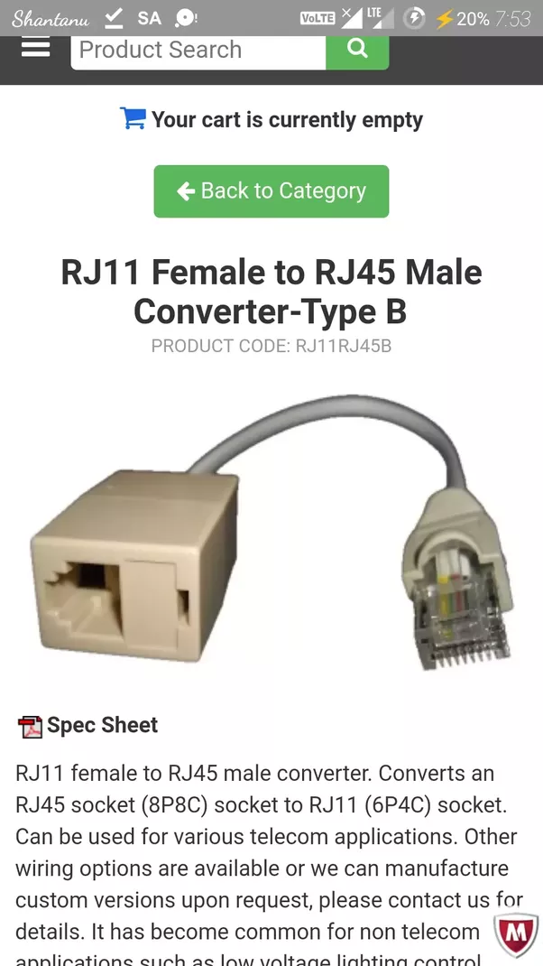 Rj45 To Rj11 Wiring Conversion Diagram