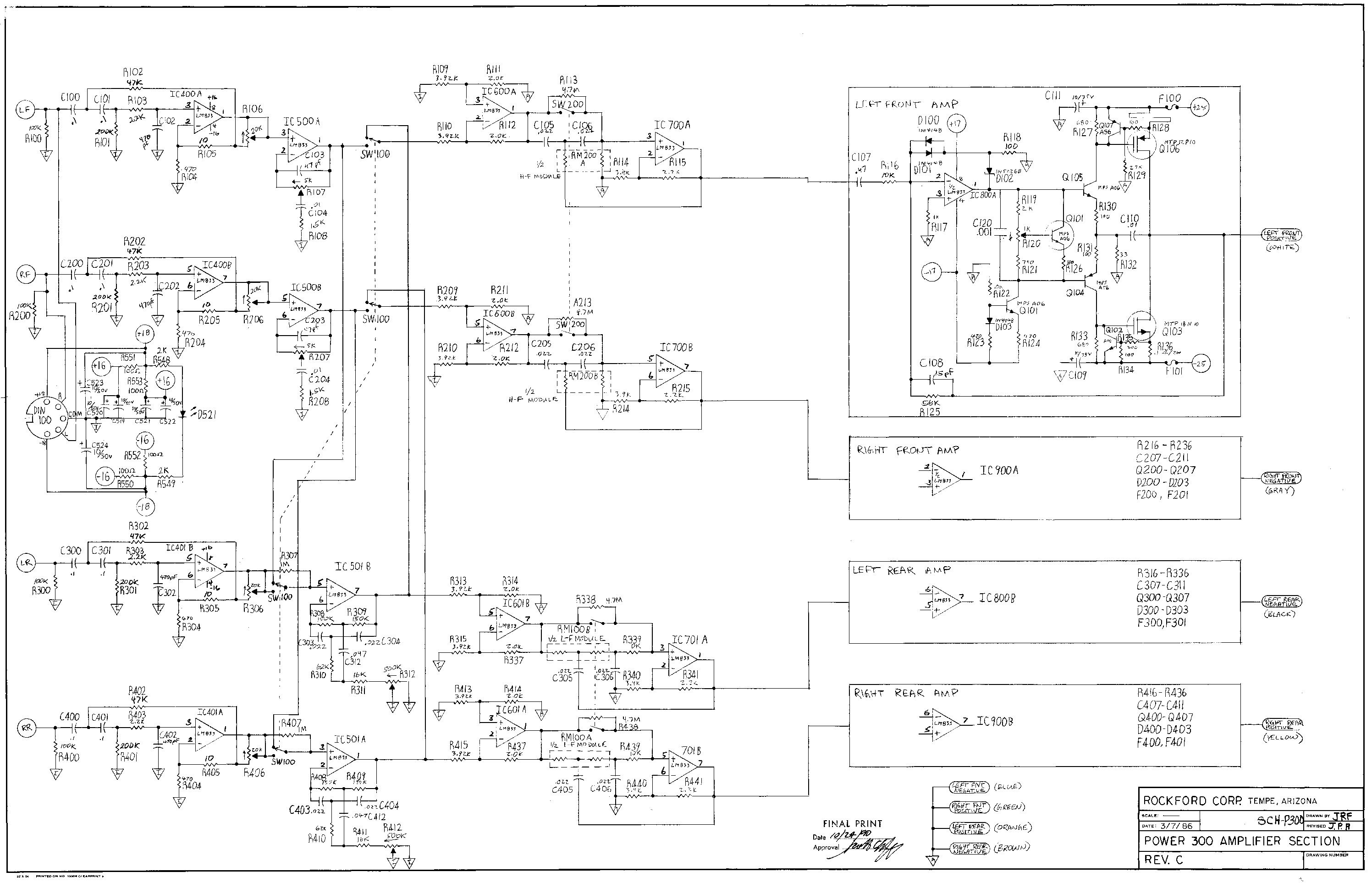 Rockford Fosgate Crossover Wiring Diagram