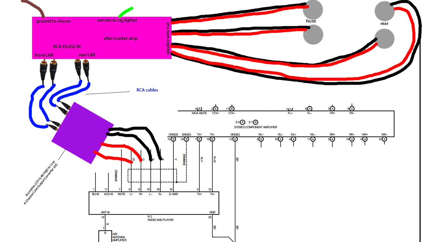 Scosche Automotive Line Out Converter Wiring Diagram