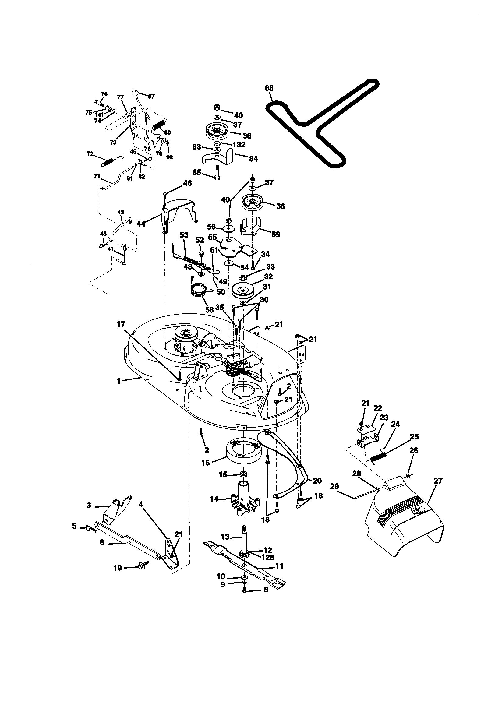 Scotts S1742 Parts Diagram