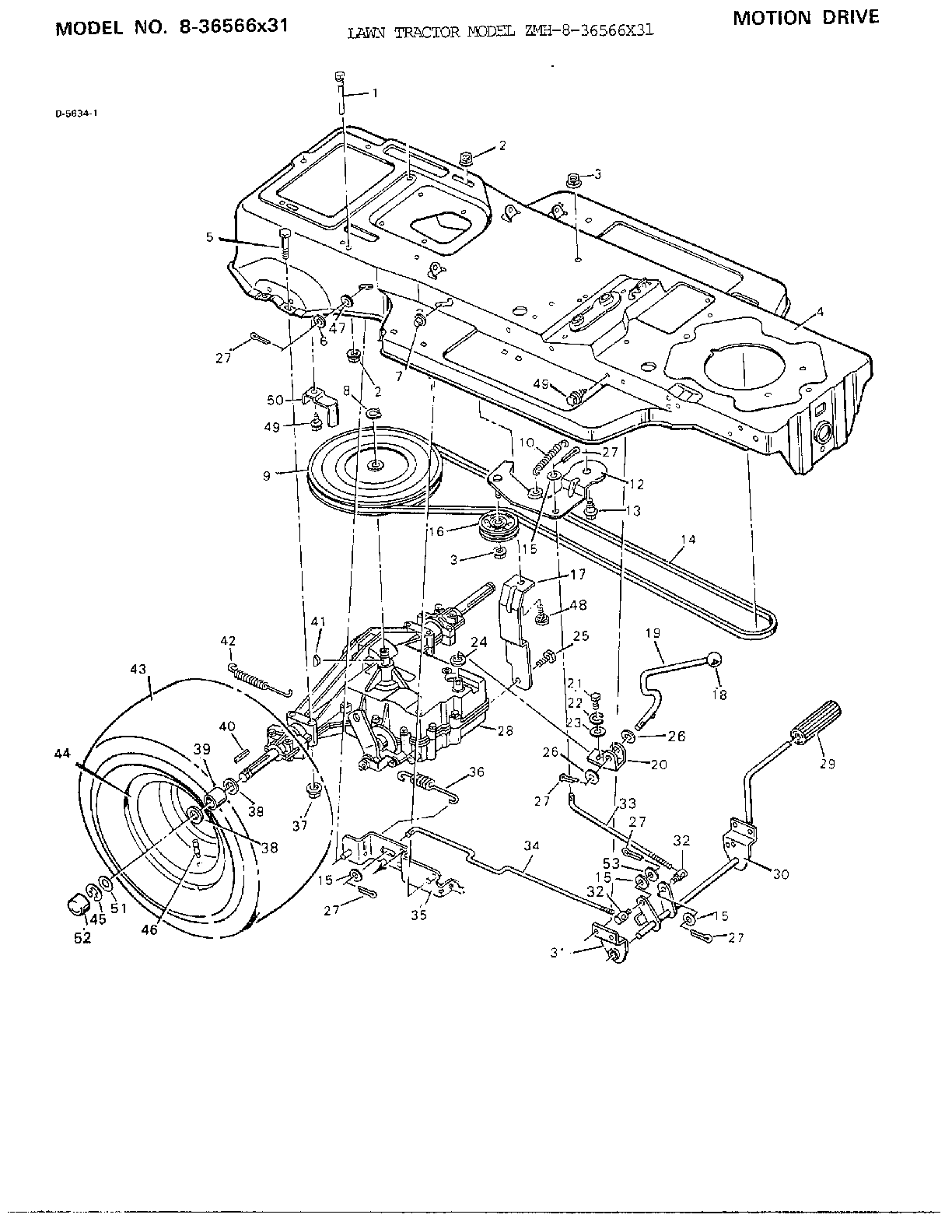 Sears 247204450 Tractor Wiring Diagram