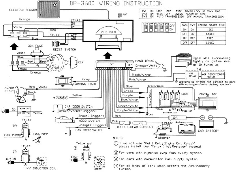 Security Wiring Diagram For A 01honda Accord